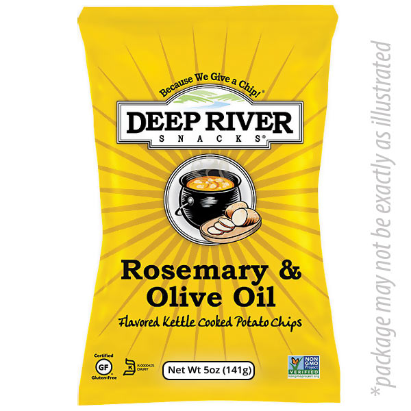 Rosemary Olive Oil Kettle Chips from Deep River 5 oz